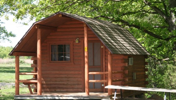 Cabin rentals at Osage Beach RV Park